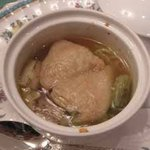 懐石フランス料理 グルマン橘 - 大山地鶏手羽先と賀茂葱のポトフー
