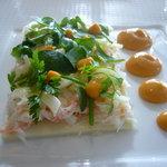シグネチャー - カニとウイキョウとハーブのサラダ