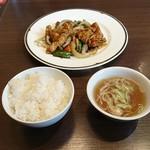 中国菜 橙 - 黒酢酢豚・ご飯・スープ