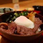 茶屋 青柳 - 松阪牛しぐれ丼アップ