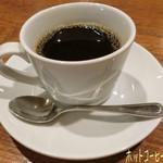浜膳 - 定食の他にホットコーヒー(おかわりOK/380円)♪ 寒かったのでホットコーヒーはご飯より先に持ってきてもらう(*^.^*) ゆっくり温まりつつお料理を待つ☆彡
