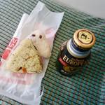 三浦商店 - 料理写真:[2018/12]赤飯おにぎり(150円)+五目おにぎり(140円)