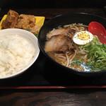 ラーメン道楽 - ラーメン定食690円 しょうゆ