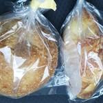 ぐうちょきぱん - 焼きカレーパンと、チーズデニッシュ。