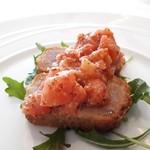 リストランテ アクアパッツァ - メバチマグロのカツレツ フレッシュトマトソース