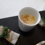 リストランテ アクアパッツァ - ニシンと里芋のテリーヌ 白菜ペーストスープ仕立て