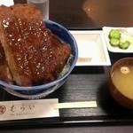 むらい - ロースかつ丼  ソース   1550円