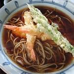 そば処 よしぶ - 天ぷら蕎麦(海老は3匹)