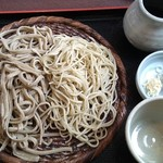 そば処 椿野 - 料理写真:黒挽き十割と十割の合いもり(大盛り)