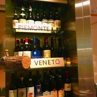こだわりのイタリアワインボトル¥3500~より