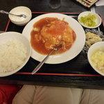 登龍門 - エビと玉子チリソース定食