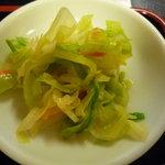 登龍門 - 定食のお新香