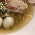 麺庵 小島流 - 無化調の焼アゴ&鶏と水のスープ