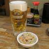 とり豚 - 料理写真:生ビール400円