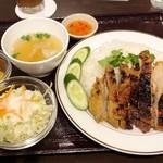タイ料理パヤオ - ランチメニュー「ガイヤーンライス(鶏肉のハーブ焼き)」(850円)