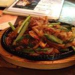 韓国家庭料理 宋 - 豚キムチ定食 辛さをちょっと辛めにしてもらいました