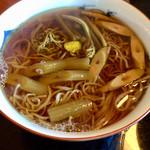 慈久庵 - 「山菜そば」1700円+「大盛り」500円