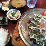 味のシマダ - 関西風お好み焼き定食