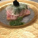 トラットリア イル レガーロ - 寒ブリのカルパッチョキャビアのせ