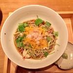 雷庵 - ズワイ蟹と唐墨のまぜ蕎麦  2,000円