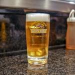 赤鶏炭焼 大安 - ☆生ビール 590円