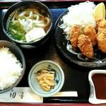 100060591 - 季節限定「カキフライ定食」980円
