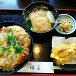 100060597 - 「ヒレカツ丼セット」ミニきつねうどんチョイス&鶏天1コ 1130円