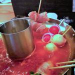 100063089 - #野菜巻き串ヘルシートマトチーズ鍋