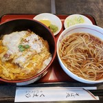 くま乃 - 料理写真:そばセット かつ丼