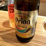 炭焼きスタンド komorebi - *オリオンドラフト《瓶ビール》(¥600)