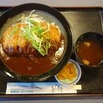 鷲羽山レストハウス - 岡山名物デミカツ丼セット1080円