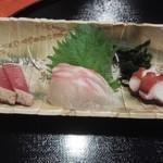 鳴門 - 料理写真:お造り3種
