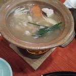 100072685 - キノコと阿波尾鶏の葛たたき