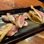 100081752 - (トッピングは別皿にて提供)                       左から、雉のモモ肉・雉の胸肉・華鶏