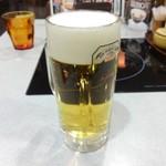 しゃぶしゃぶ金光 - お約束の生ビール
