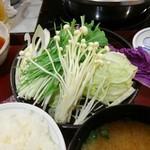 しゃぶしゃぶ金光 - 野菜