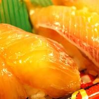 田舎寿し なか山-漬けカンパチ寿司