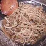 そば二十三 - 肉味噌ぶっかけ蕎麦をよーくかき混ぜて、食べるぞ!!