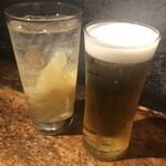 100089378 - 生姜サワー ¥400   生ビール ¥400