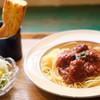 にちにち食堂 - 料理写真:にちにちパスタ(ボロネーゼ)セットで1100円