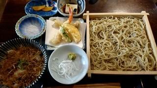 手打ち蕎麦 野和 - 野和セット ミニ天ぷら付(1450円+税)