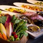 THE MARKET F - ワゴンサービスによるディナーコース「MARKET TO TABLE – マーケット トゥ テーブル – 」