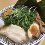 丸源ラーメン - 初挑戦w  肉そば全部盛りゆず増し