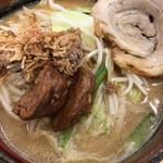 蔵出し味噌 麺場 壱歩 - 北海道味噌 野菜らーめん 焼豚1枚トッピング