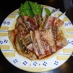 香蘭 - 料理写真:牛バラ焼肉セットの牛バラ肉