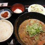 モリちゃん - 「もつ煮定食」