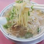 ラーメン福 - 中太ストレート麺