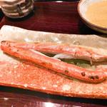 御幸町 田がわ - 間人蟹の足