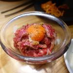 焼肉ホルモンブンゴ - 炙りユッケ 赤身