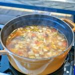 ステッサ - ビュッフェコーナーのスープ